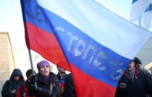 Pro-Russian Demonstrator in Sevastopol (ITAR-TASS/Mikhail Pochuev)