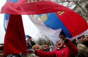 Pro-Russia Demonstrators in Crimea (ITAR-TASS/EPA/Zurab Kurtsikidze)