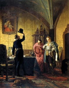 The Oath of False Dimitry I to Sigismund III [King of Poland-Lithuania] on the Introduction of Catholicism in Russia by Nikolai Nevrev.