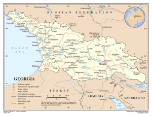 UN Map of Georgia, 2014