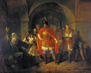 Patriarch Hermogenes Refusing to Bless the Poles (1860) by Pavel Chistyakov