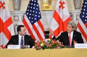 Irakli Garibashvili and John Kerry (Civil Georgia)
