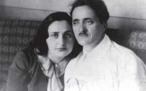 Nestor Lakoba and his wife Sariya.  Both were victims of Stalin and Beria's Terror in the 1930s.