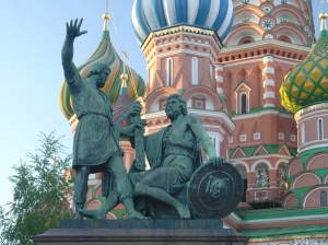 Minin and Pozharsky Statue in front of St. Basil's Cathedral, Moscow (Kotomka)