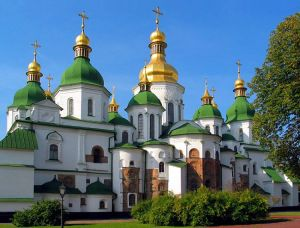 St. Sophia's Cathedral in Kiev, an architectural monument of the Kievan Rus'.