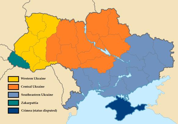 Regional Map of Ukraine