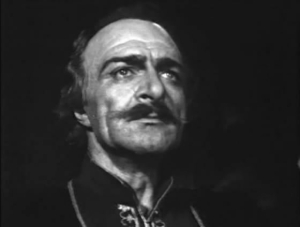 Davit Bek as portrayed by Hrachia Nersisyan for the 1944 Soviet Armenian feature of the same name.  The film was meant to foster patriotic feelings among Armenians during the time of the Nazi invasion of the USSR.