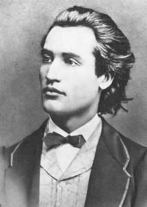 Mihai Eminescu in Prague in 1869