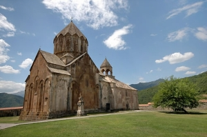 The famed 13th century Gandzasar Monastery in Karabakh.