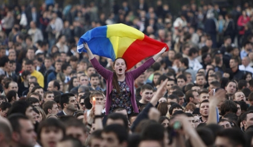 Protests in Chișinău, April 2009 (Reuters/Gleb Garanich)
