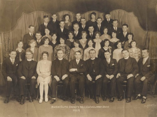 The Rusyn Elite Society in Cleveland, Ohio in 1929, one of many Rusyn immigrant associations in the United States. (Cleveland Cultural Gardens)