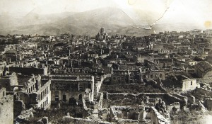 The remants of the Armenian quarter of Susha after the pogrom of March 1920.