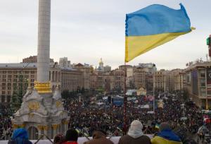 Ukrainian protestors in Kiev (AP/Ivan Sekretarev)