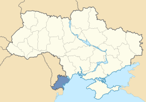 Location of the Budzhak in Ukraine