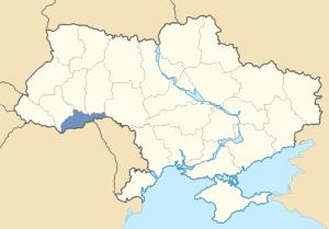 Location of Northern Bukovina and Northern Bessarabia in Ukraine