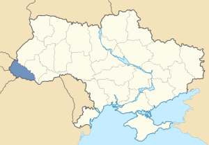 Location of Carpathian Rus' in Ukraine