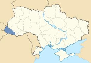 Location of Carpathian Rus' in Ukraine