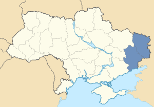 Location of Donbas in Ukraine