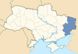 Location of Donbas in Ukraine