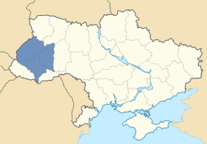 Location of Galicia in Ukraine