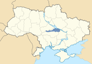 Location of Novaya Serbiya in Ukraine