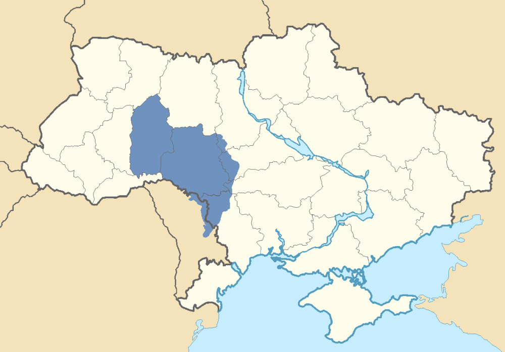 Location of Podolia in Ukraine and Transnistria Reconsidering