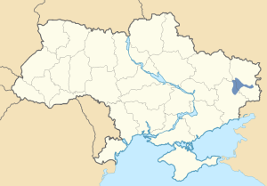 Location of Slavo-Serbiya in Ukraine