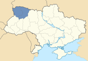 Location of Volhynia in Ukraine