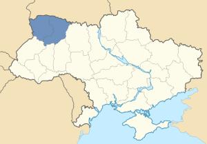 Location of Volhynia in Ukraine