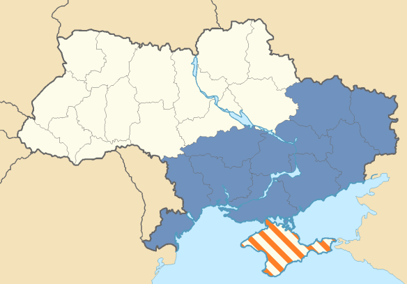 Aleksandr Dugin's Proposed Territorial Extent of the Federal State of Novorossiya
