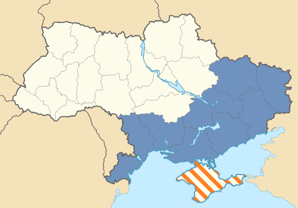 The Proposed Territorial Extent of the Federal State of Novorossiya by the Donbas Rebels