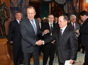 Russian Foreign Minister Sergei Lavrov Meets Masoud Barzani in Moscow (KRG)