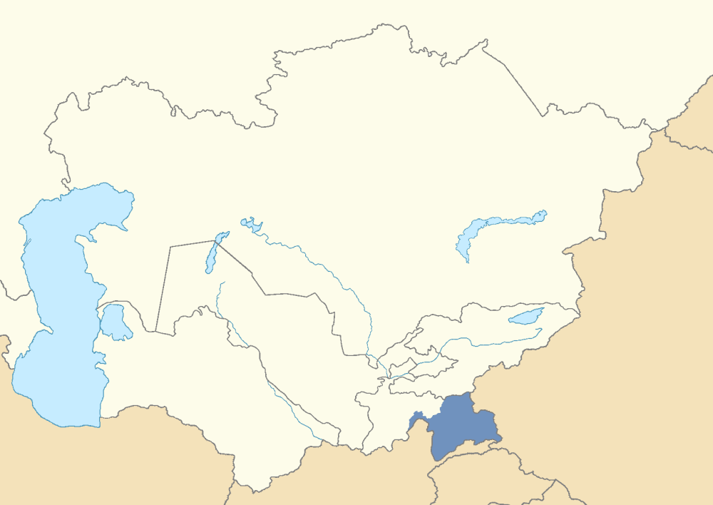 Location of the GornoBadakhshan Autonomous Oblast within Tajikistan