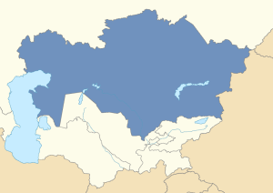 Location of Kazakhstan in post-Soviet Central Asia