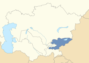 Location of Kyrgyzstan in post-Soviet Central Asia