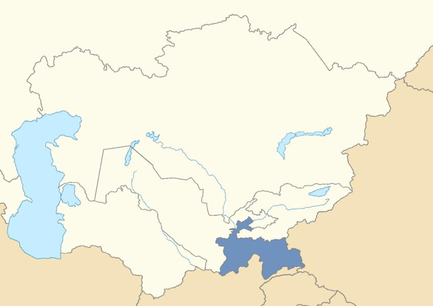 Location of Tajikistan in post-Soviet Central Asia   Reconsidering ...
