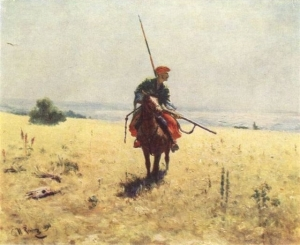 Cossack on the Steppe, Ilya Repin, 1890