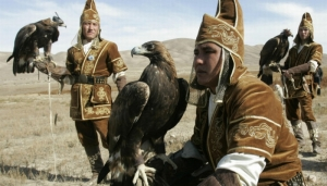 Eagle hunters in Kazakhstan (Getty)