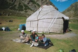 Kyrgyz yurt (nomadic dwelling) near Issyk Kul
