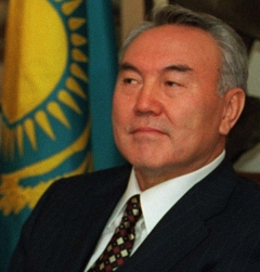 Kazakh President Nursultan Nazarbayev in 1997 (Robert D. Ward)