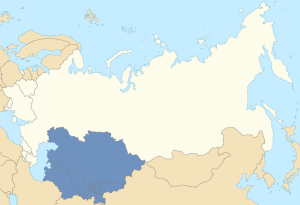 Location of Central Asia in the former Soviet Union