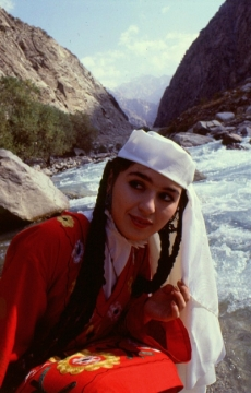 Tajik woman in national dress