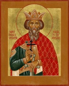 Kievan ruler Vladimir the Great was baptized at Khersones (in modern-day Sevastopol) and converted the Kievan Rus' to Christianity in the 10th century.  He is widely respected by all East Slavs (including Russians and Ukrainians) to this day.