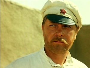 Anatoly Kuznetsov as Comrade Sukhov in White Sun of the Desert