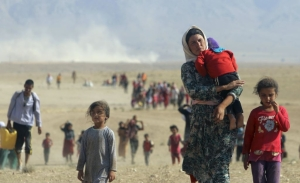 Yazidis Fleeing Violence in Iraq (Reuters)