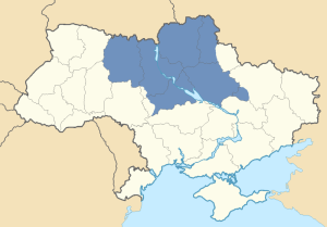 Location of Dnieper Ukraine in Ukraine
