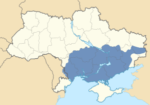 Location of Novorossiya in Ukraine and Transnistria