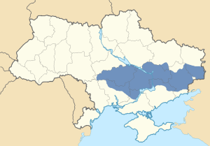 Location of Zaporozhia in Ukraine