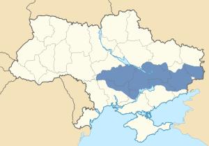 Location of Zaporozhia in Ukraine