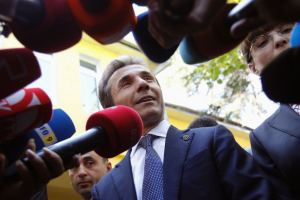 Ivanishvili after his election victory, October 2012 (David Mdzinarishvili / Reuters)